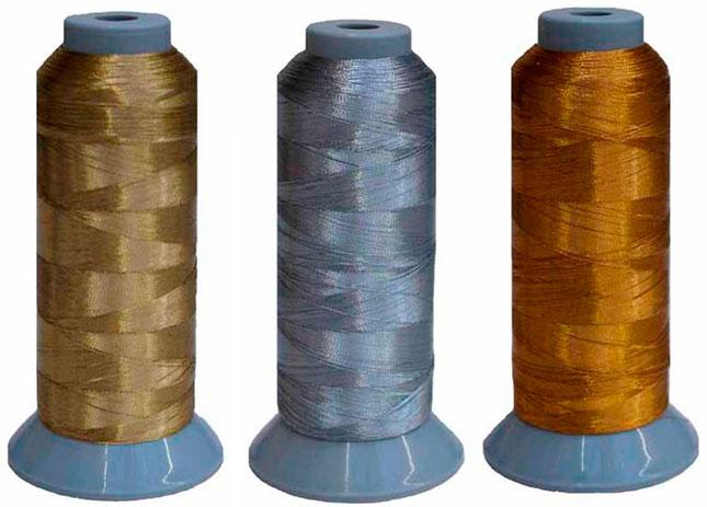 Вышивка металлизированными нитями